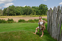 Native American reenactment. Fort Necessity National Battlefield Pennsylvannia