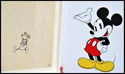 Hand out Pictures..Embargoed until 0001 Friday November 23. No Online use until Friday November 23..SKETCH OF MICKEY MOUSE FROM HIS FIRST EVER CARTOON RELEASED. A rare and unique sketch of Mickey Mouse from 1928 and his first ever cartoon Steamboat Willie has been released by Disney to celebrate the release of video game Epic Mickey 2: the Power Two.  For one weekend only (23rd to 25th November)  the sketch and other unique Disney sketches will be on display at a pop up gallery in Westfield Stratford. Thursday November 22, 2012. Photo By Andrew Parsons / i-Images