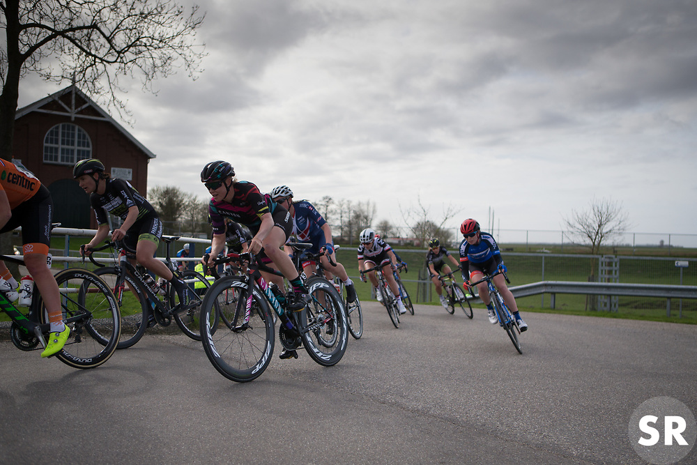 Tiffany Cromwell (AUS) of CANYON//SRAM Racing rides mid-pack during Stage 1b of the Healthy Ageing Tour - a 77.6 km road race, starting and finishing in Grijpskerk on April 5, 2017, in Groeningen, Netherlands.