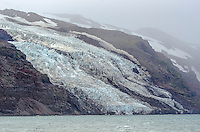Tidewater glacier off of Beerenberg, 7470 ft glacier covered volcano on Jan Mayen in the North Atlantic, Norway.