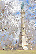Soldiers and Sailors Monument commemorating those that gave their lives during the Civil War from the Commonwealth