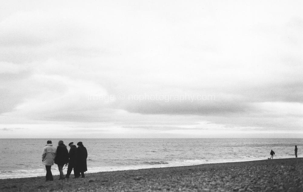 Killiney Beach Dublin Ireland, black and white film used