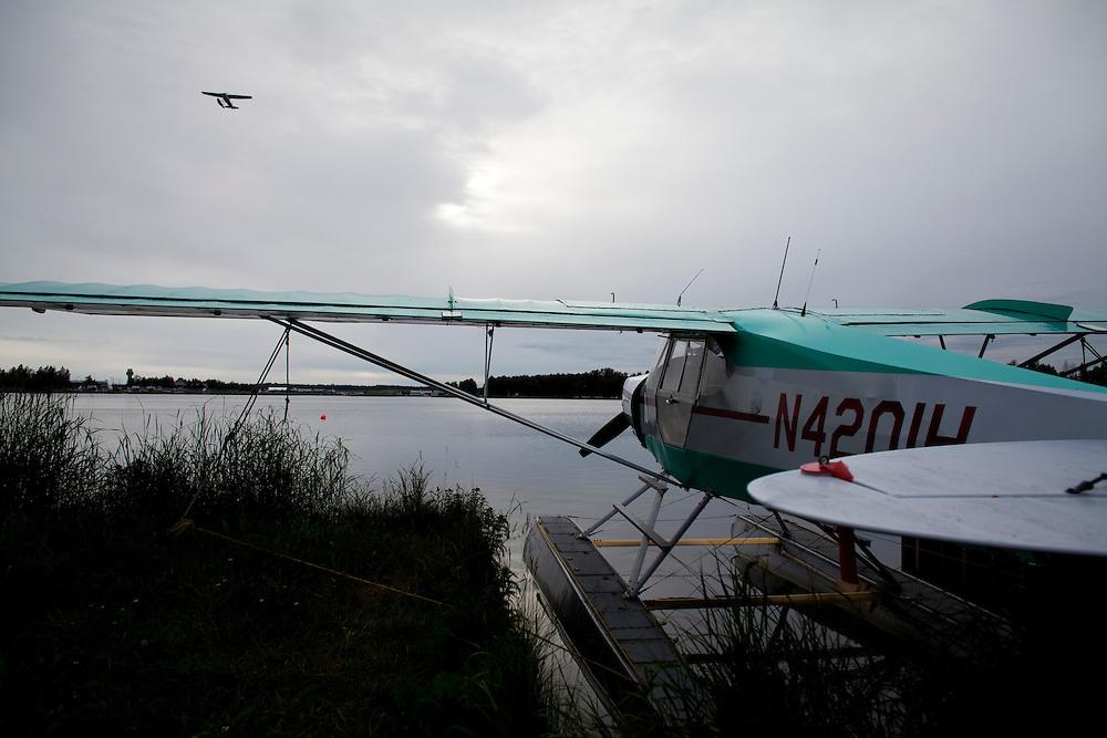 Alaska_2010.-Sea Planes at Lake Hood in Anchorage AK.