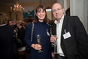 ALISON HULL; MARK ELLIOT, Streetsmart Reception at 11 Downing St. London. 1 November 2011. <br /> <br />  , -DO NOT ARCHIVE-© Copyright Photograph by Dafydd Jones. 248 Clapham Rd. London SW9 0PZ. Tel 0207 820 0771. www.dafjones.com.