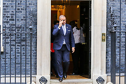 © Licensed to London News Pictures. 29/10/2019. London, UK. Conservative Party Co-Chair JAMES CLEVERLY departs from No 10 Downing Street after attending the weekly cabinet meeting. Photo credit: Dinendra Haria/LNP