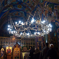 Lines form to pay tribute to Saint Petka as her Slava day is observed at the Old Chapel of Saint Sava, Belgrade, Serbia.