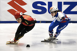 February 8, 2019 - Torino, Italia - Foto LaPresse/Nicolò Campo .8/02/2019 Torino (Italia) .Sport.ISU World Cup Short Track Torino - 1500 meter Ladies Quater Finals.Nella foto: Jinyu Li, Sofia Prosvirnova..Photo LaPresse/Nicolò Campo .February 8, 2019 Turin (Italy) .Sport.ISU World Cup Short Track Turin - 1500 meter Ladies Quater Finals.In the picture: Jinyu Li, Sofia Prosvirnova (Credit Image: © Nicolò Campo/Lapresse via ZUMA Press)