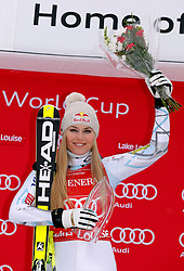05.12.2015, East Summit Course, Lake Luise, CAN, FIS Weltcup Ski Alpin, Lake Luise, Damen, Abfahrt, Rennen, im Bild Lindsey Vonn (USA, 1. Platz) // winner Lindsey Vonn of the USA during the race of ladies downhill of the Lake Luise FIS Ski Alpine World Cup at the East Summit Course in Lake Luise, Canada on 2015/12/05. EXPA Pictures © 2015, PhotoCredit: EXPA/ SM<br /> <br /> *****ATTENTION - OUT of GER*****