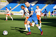 Peterborough United midfielder Marcus Maddison (21) on the attack  during the EFL Sky Bet League 1 match between Peterborough United and Blackpool at The Abax Stadium, Peterborough, England on 29 September 2018.