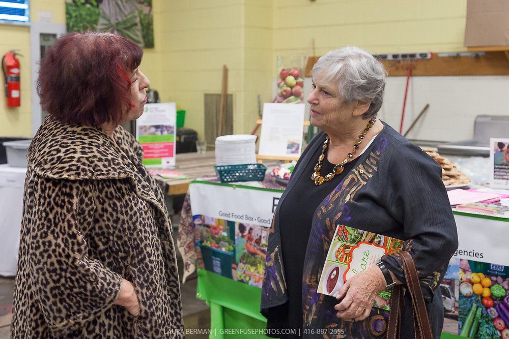 "Marion kane and Michele Landsberg at the launch party of ""share"", FoodShare's 1st cookbook. Nov. 14, 2012."