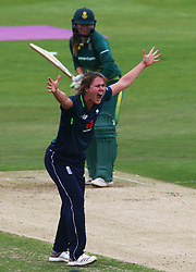 June 15, 2018 - Canterbury, England, United Kingdom - Natalie Sciver of England Women claiming LBW not given.during Women's One Day International Series match between England Women against South Africa Women at The Spitfire Ground, St Lawrence, Canterbury, on 15 June 2018  (Credit Image: © Kieran Galvin/NurPhoto via ZUMA Press)