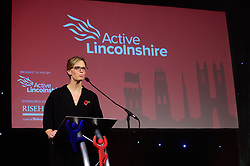 Lincolnshire Sports Awards organiser Lynsey Norris, Client Manager (Sport and Physical Activity) at Active Lincolnshire<br /> <br /> Lincolnshire Sport Awards 2017 sponsored by Riseholme College, a part of Bishop Burton College and held at the Lincolnshire Showground.<br /> <br /> Picture: Chris Vaughan Photography for Active Lincolnshire<br /> Date: November 2, 2017