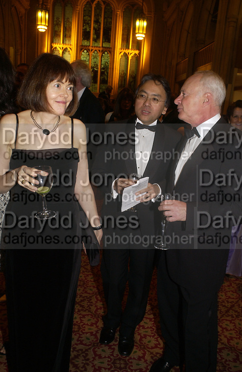 Kazuo Ishiguro. The Man Booker prize 2005. the Guildhall.   October 10 2005. ONE TIME USE ONLY - DO NOT ARCHIVE © Copyright Photograph by Dafydd Jones 66 Stockwell Park Rd. London SW9 0DA Tel 020 7733 0108 www.dafjones.com