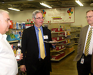 (from left) Jim Gabringer of Crayons To Classrooms, .Crayons To Classrooms board member Jim Gabringer and Stephen Wesseler of Goodwill Easter Seals Miami Valley during a BBB networking event at Crayons to Classrooms in Dayton, Tuesday, February 28, 2012.