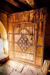 An ornamental door in the part ruined and abandoned Kasbah at Telouet, southern Morocco<br /> <br /> (c) Andrew Wilson | Edinburgh Elite media