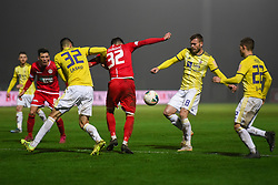 Ante Zivkovic of Aluminij and Alexandru Cretu during football match between NK Aluminij and NK Maribor in 18th Round of Prva liga Telekom Slovenije 2019/20, on November 24, 2019 in Sportni park Aluminij, Kidricevo Slovenia. Photo by Milos Vujinovic / Sportida