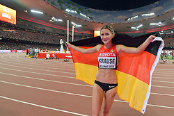 26-08-2015 CHN: IAAF World Championships Athletics day 5, Beijing<br /> Gesa Felicitas Krause GER 3rd on the 3000 steeplechase<br /> Photo by Ronald Hoogendoorn / Sportida