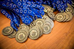 Medals at 36th Marathon Franja BTC City 2017, on June 11, 2016 in Dolgi most, Ljubljana, Slovenia. Photo by Vid Ponikvar / Sportida