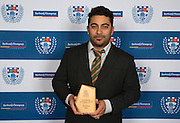 The 2016 Most Promising Club Coach of the Year is Chad Hopa from Pakuranga U21s.  Auckland Rugby Union Awards 2016, Eden Park, Auckland, New Zealand on Wednesday, October 26, 2016. Copyright photo: David Rowland / www.photosport.nz