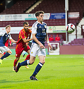 Scotland's Ryan Christie during Scotland Under-21 v FYR Macedonia,  UEFA Under 21 championship qualifier  at Tynecastle, Edinburgh. Photo: David Young<br /> <br />  - © David Young - www.davidyoungphoto.co.uk - email: davidyoungphoto@gmail.com