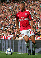 Arsenal FC vs Portsmouth FC Premiership 22/08/09<br /> Photo Nicky Hayes Fotosports International<br /> Arsenal defender Kieran Gibbs in action.