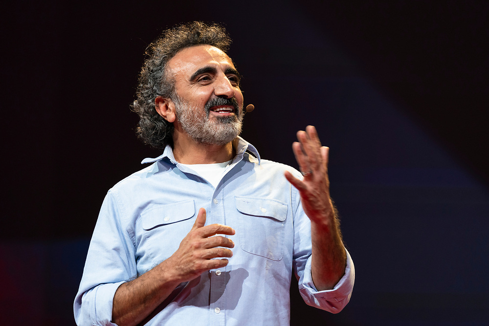 Hamdi Ulukaya speaks at TED2019: Bigger Than Us. April 15 - 19, 2019, Vancouver, BC, Canada. Photo: Bret Hartman / TED