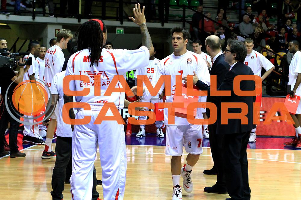 DESCRIZIONE : Desio Eurolega  2013-14 EA7 Armani Milano Vs. Unicaja Malaga<br /> GIOCATORE : Bruno Cerella<br /> CATEGORIA :  Pregame<br /> SQUADRA :  EA7 Emporio Armani Milano<br /> EVENTO : Eurolega  2013-2014 <br /> GARA : EA7 Armani Milano Vs. Unicaja Malaga<br /> DATA : 20/02/2014<br /> SPORT : Pallacanestro <br /> AUTORE : Agenzia Ciamillo-Castoria/I.Mancini<br /> Galleria : Eurolega 2013-2014 <br /> Fotonotizia :  Desio  Eurolega  2013-14 EA7 <br /> EA7 Armani Milano Vs. Unicaja Malaga