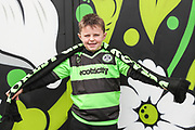 Young FGR fan in new Player layer kit during the EFL Sky Bet League 2 match between Forest Green Rovers and Cheltenham Town at the New Lawn, Forest Green, United Kingdom on 20 October 2018.