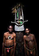 Vanuatu, Malampa Province, Ambrym Island, chief sekor and his father