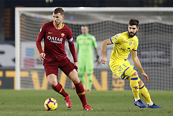 February 8, 2019 - Verona, vr, Italia - Foto Paola Garbuio/LaPresse.08 febbraio 2019 Verona, Italia.sport.calcio.Chievo Verona  vs Roma- Campionato di calcio Serie A TIM 2018/2019 - stadio Bentegodi.Nella foto: dzeko,rossettini..Photo Paola Garbuio/LaPresse.february  08, 2019 Verona, Italy.sport.soccer.Chievo Verona  vs Roma  - Italian Football Championship League A TIM 2018/2019 -  stadio Bentegodi..In the pic:dzeko,rossettini (Credit Image: © Paola Garbuio/Lapresse via ZUMA Press)