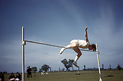 School athletics high-jump, UK, 1960's