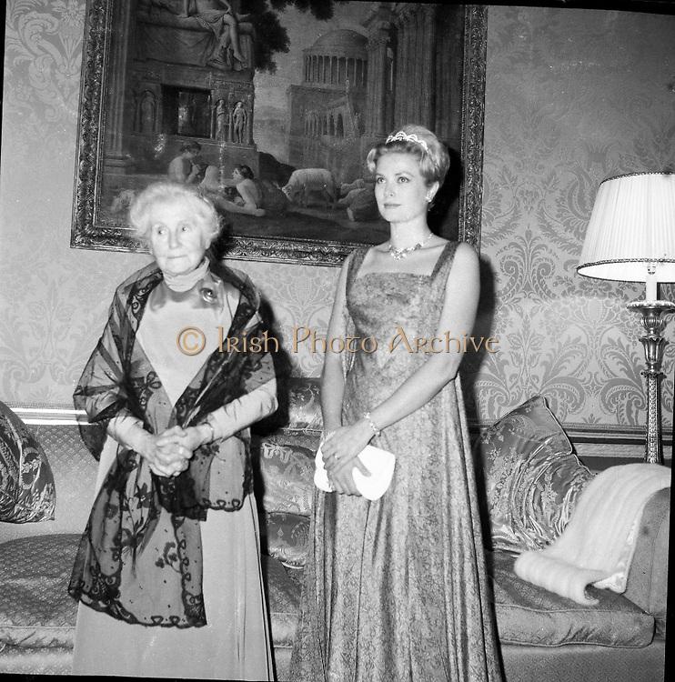 Royal Visit to Ireland by Princess Grace and Prince Rainier of Monaco. The royal couple at Áras an Uachtarain..10.06.1961