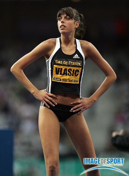 Jul 18, 2008; Paris, FRA;  Blanka Vlasic (CRO) won the women's high jump at 6-7 (2.01m) in the Meeting Gaz de France Paris Saint-Denis at the Stade de France.