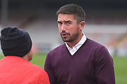 Harry Kewell Manager of Crawley Town during the EFL Sky Bet League 2 match between Lincoln City and Crawley Town at Sincil Bank, Lincoln, United Kingdom on 28 October 2017. Photo by Mick Haynes.