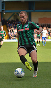 Rochdale Forward, Lewis Alessandra on the ball during the Sky Bet League 1 match between Bury and Rochdale at Gigg Lane, Bury, England on 17 October 2015. Photo by Mark Pollitt.
