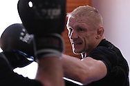 SYDNEY, AUSTRALIA, FEBRUARY 24, 2011: UFC lightweight division fighter Dennis Siver trains wtih coach Nico Sulenta (not pictured) ahead of his fight with George Sotiropoulos at UFC 127.