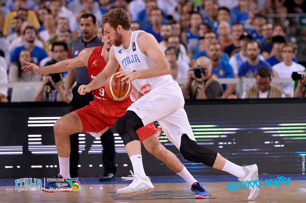 DESCRIZIONE: Torino FIBA Olympic Qualifying Tournament Italia - Croazia<br /> GIOCATORE: Nicolo&rsquo; Melli<br /> CATEGORIA: Nazionale Italiana Italia Maschile Senior<br /> GARA: FIBA Olympic Qualifying Tournament Italia - Croazia<br /> DATA: 05/07/2016<br /> AUTORE: Agenzia Ciamillo-Castoria