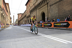 Jos Van Emden (NED) Team Jumbo-Visma heads out for a practice run before Stage 1 of the 2019 Giro d'Italia, an individual time trial running 8km from Bologna to the Sanctuary of San Luca, Bologna, Italy. 11th May 2019.<br /> Picture: Eoin Clarke | Cyclefile<br /> <br /> All photos usage must carry mandatory copyright credit (© Cyclefile | Eoin Clarke)