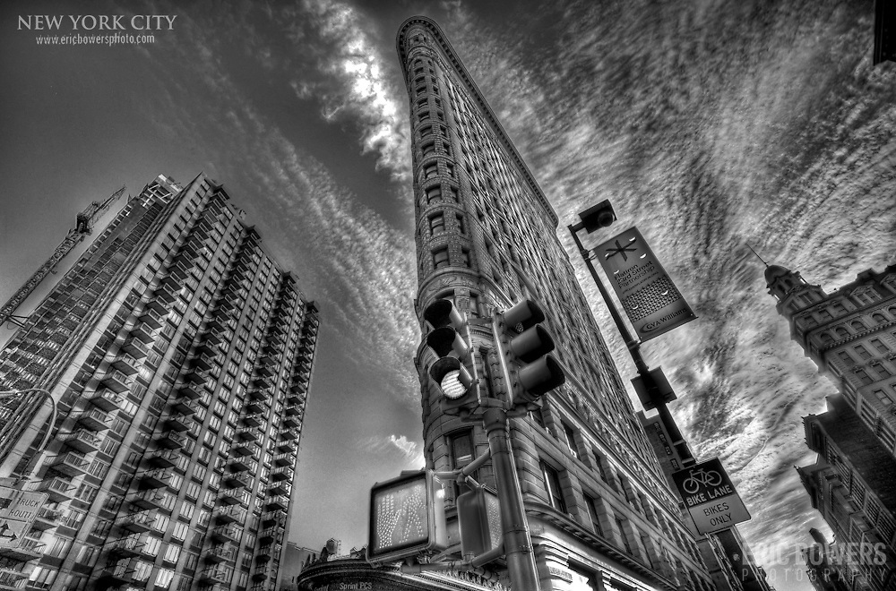 The Flatiron Building in New York, a piece of iconic early 20th Century architecture.