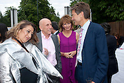 ZAHA HADID; BRIAN CLARKE; JULIA PEYTON-JONES;  BEN BRADSHAW;  2009 Serpentine Gallery Summer party. Sponsored by Canvas TV. Serpentine Gallery Pavilion designed by Kazuyo Sejima and Ryue Nishizawa of SANAA. Kensington Gdns. London. 9 July 2009.