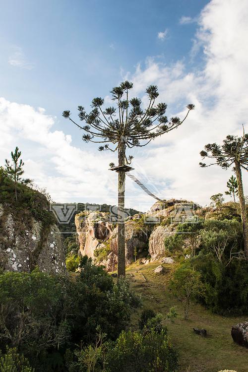 Formação rochosa, Fazenda Pedras Brancas, Lages, Santa Catarina - foto de Ze Paiva - Vista Imagens