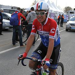 OUDENAARDE (BEL) cyclingDe ronde van Vlaanderen kende zijn 99e editie dit jaar en is de afsluiting van de Vlaamse Wielerweek. <br /> Nationaal Kampioen Sebastian Langeveld na de 99e Ronde van  Vlaanderen <br /> <br /> --NOVUM COPYRIGHT SPORTFOTO PHOTOAGENCY--