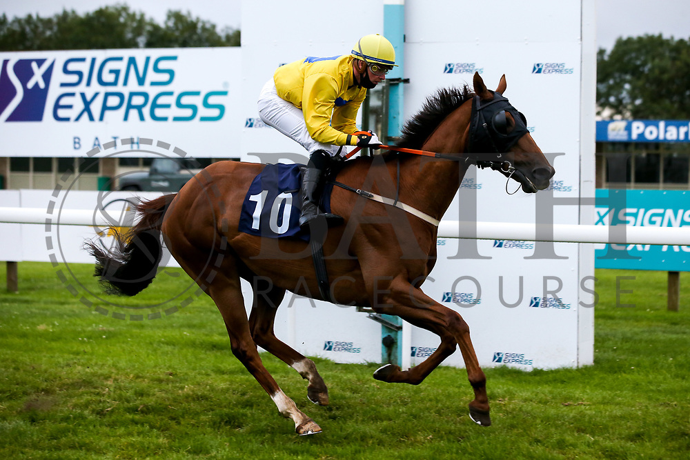 Leodis ridden by John Fahy and trained by Stella Barclay in the Sky Sports Racing Sky 415 Handicap - Mandatory by-line: Robbie Stephenson/JMP - 18/07/2020 - HORSE RACING- Bath Racecourse - Bath, England - Bath Races 18/07/20
