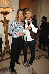 Left to right, SABRINA GUINNESS and ARABELLA MACMILLAN, she was designer Arabella Pollen at a party to celebrate the publication of The End of Sleep by Rowan Somerville held at the Egyptian Embassy, London on 27th March 2008.<br /><br />NON EXCLUSIVE - WORLD RIGHTS