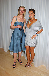 Left to right, LADY HELEN TAYLOR and JADE JAGGER at party in aid of cancer charity Clic Sargent held at the Sanderson Hotel, Berners Street, London on 4th July 2005.<br />
