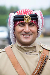 Major Mohammad Bassim. The Jordian calvary at their stables in Tower Farm, Liberton, Edinburgh