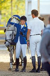 Melchior Judy Ann (BEL), Ahlmann Christian (GER)<br /> Final 7 years old horses<br /> World Championship Young Horses Lanaken 2009<br /> Photo© Hippo Foto - Dirk Caremans
