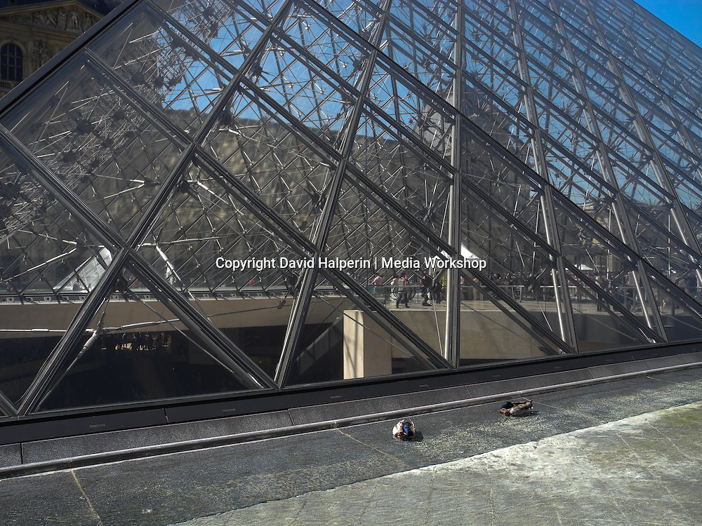 I.M. Pei's iconic glass pyramid, The Louvre
