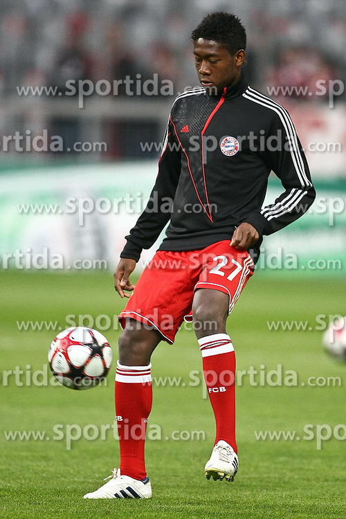 21.04.2010, Allianz Arena, Muenchen, GER, Champions League, Bayern Muenchen vs Olympique Lyonnais, Halbfinale Hinspiel, im Bild  David Alaba (FC Bayern Nr.27) ,EXPA Pictures © 2010, PhotoCredit: EXPA/ nph/  Straubmeier / SPORTIDA PHOTO AGENCY
