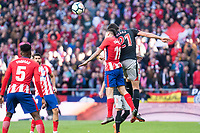 Atletico de Madrid Angel Martin Correa and Athletic Club Mikel Vesga during La Liga match between Atletico de Madrid and Athletic Club and Wanda Metropolitano in Madrid , Spain. February 18, 2018. (ALTERPHOTOS/Borja B.Hojas)